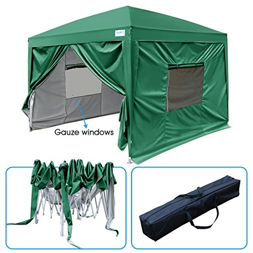 Cheap  Quictent 2018 Upgraded 8x8 EZ Pop Up Canopy Gazebo Instant Folding Party..