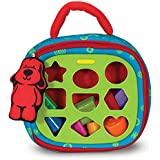 "Melissa & Doug Take-Along Shape-Sorter Baby and Toddler Toy, Developmental Toys, For Babies & Toddlers, 13"" H x 9.75"" W x 3.75"" L"