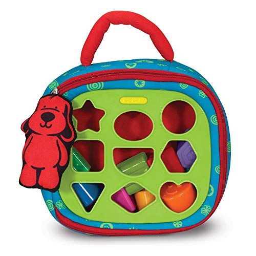 Melissa & Doug K's Kids Take-Along Shape Sorter Baby Toy With 2-Sided Activity Bag and 9 Textured Shape Blocks -