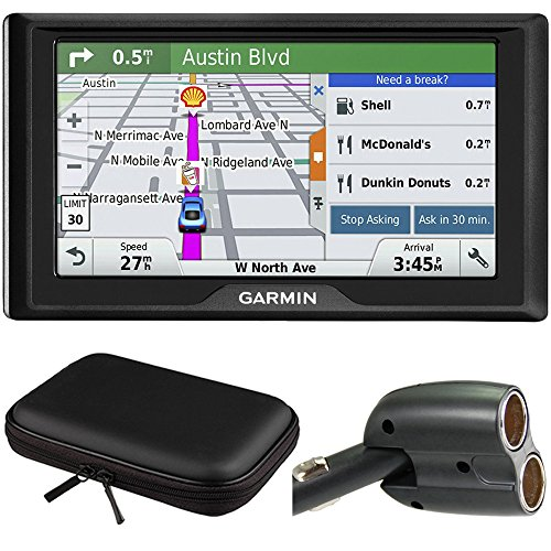(Garmin Drive 60LM GPS Navigator (US) 010-01533-0C Hardshell Case + Car Charger Bundle Includes GPS, PocketPro XL Hardshell Case and Dual 12V Car)