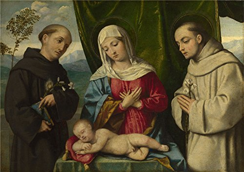 Assembly Sterling Cartridge - Oil Painting 'Italian North The Madonna And Child With Saints' 18 x 26 inch / 46 x 65 cm , on High Definition HD canvas prints is for Gifts And Dining Room, Laundry Room And Living Room decor, pop