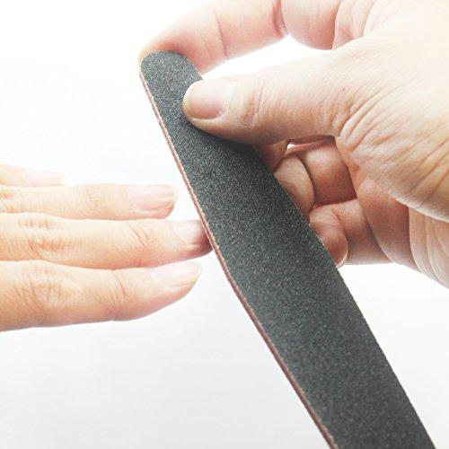 PerfectSummer 5pcs double faced nail art water wash sponge soft rhombus filing grinding tools