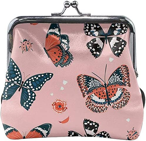 Dulce Tono de Mariposas Volando en el jardín Monedero de Cuero Floral Monedero de Embrague Monedero para Mujer: Amazon.es: Equipaje