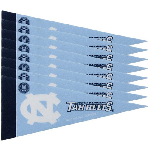 Rico NCAA North Carolina 8 Pc Mini Pennant Pack Sports Fan Home Decor, Multicolor, One Size by Rico