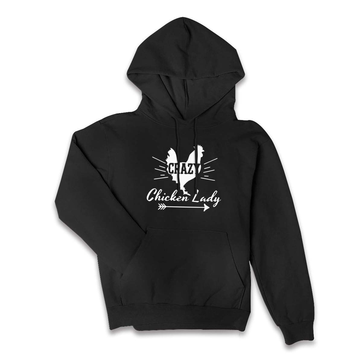 Lponvx Crazy Chicken Lady Logo Womens Pocket Long Sleeve Hooded Sweatshirt with Plus Size