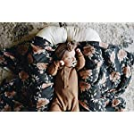 Peony-Bloom-Charcoal-Gray-Soft-Muslin-Cotton-Swaddle-Blanket-Newborn-Receiving-Nursing-Cover-Floral-Girl-Wrap-for-Baby-Shower-Registry-Gift