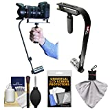 Vidpro SB-10 Professional Video Camcorder & Digital SLR Camera Stabilizer with Accessory Kit