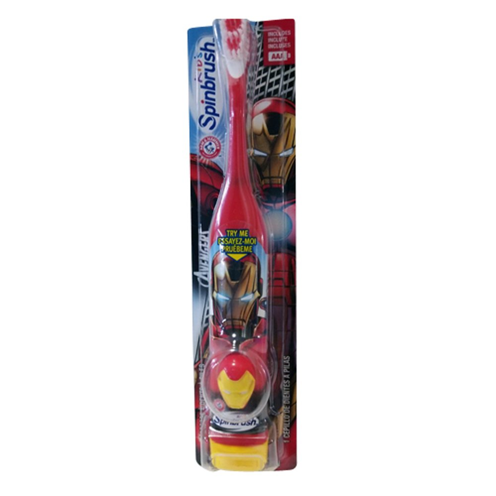 Amazon.com: Spinbrush Marvel Heros Battery Powered Toothbrush, Hulk and Wolverine (Pack of 5): Health & Personal Care