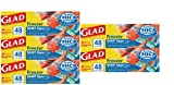 Glad Freezer Plastic Freezer Bags, Quart,5 Pack, 48 Count Each