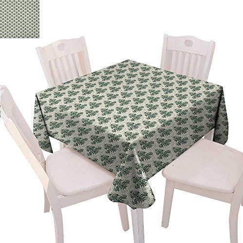 (BlountDecor Vintage Customized Tablecloth Swirls and Curves Pattern with Medieval Inspirations Victorian Designs Tablecloth That can be Used as a Tapestry 70