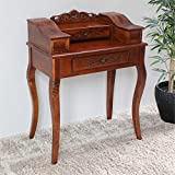International Caravan Hand Carved Wood Victorian Telephone Table