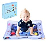 Moonite Inflatable Tummy Time Water Mat Baby Water Play Pad Toddlers Leakproof Activity Center Newborns Engaging Fun Summer Cooling Toys for Stimulation Growth (D)