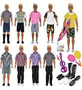 EuTengHao 25Pcs Doll Clothes and Accessories for 12 Inch Boy Dolls Includes 16 Different Wear Clo...