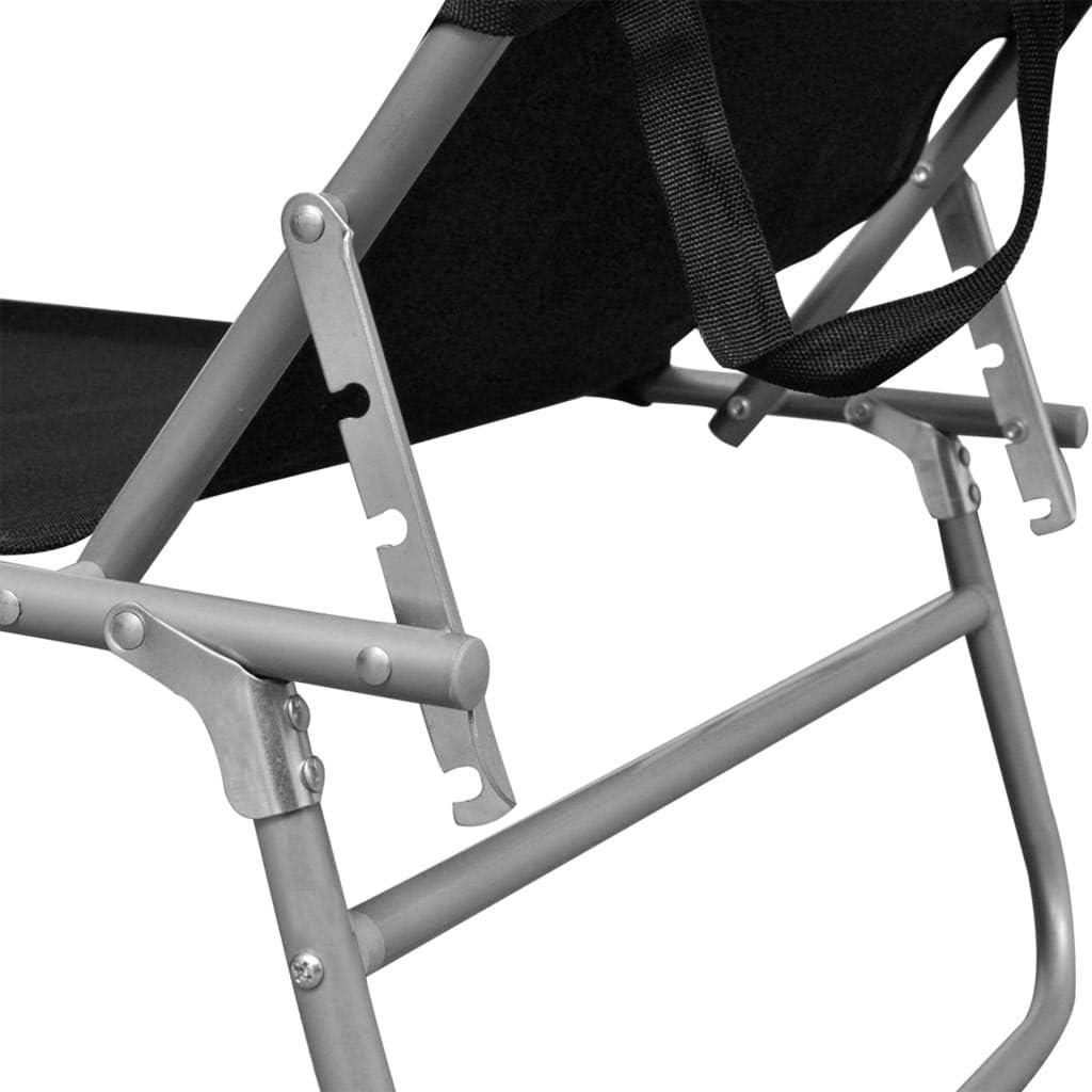 vidaXL Lettino Prendisole Pieghevole con Baldacchino Pieghevole Leggero Regolabile Sdraio Chaise Longue in Alluminio e Poliestere Blu