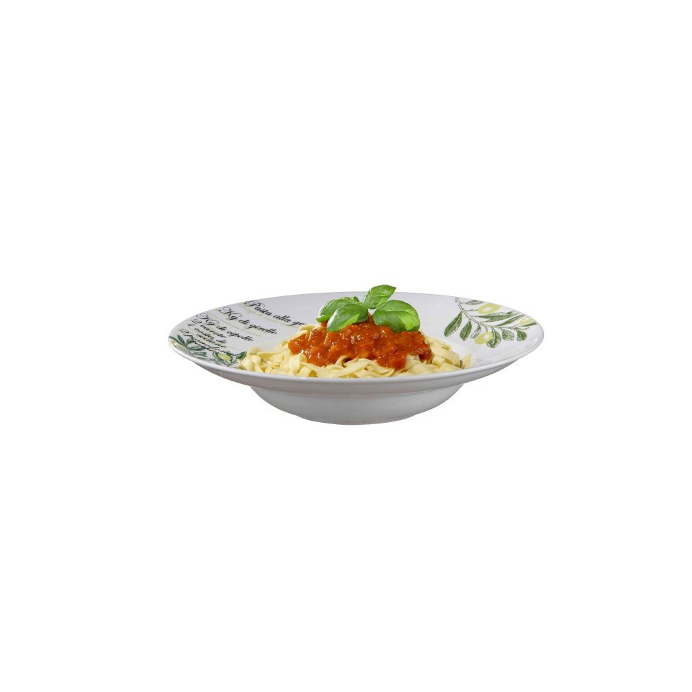 Bianco White Pasta Bowl Set with Serving Bowl by Brilliant