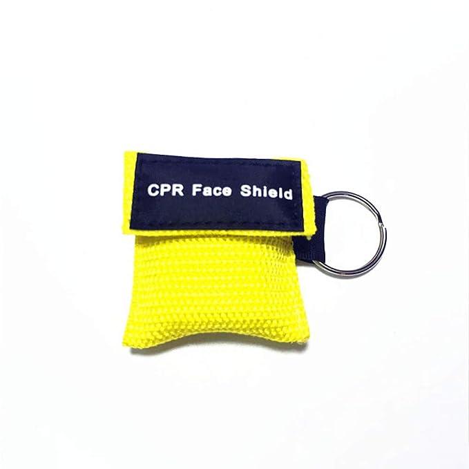 OPSLEA RCP máscara Llavero Anillo de Emergencia Kit de Rescate Escudos de una Sola vía Barrera respiratoria de válvulas Primeros Auxilios