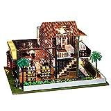 Dreamyth- Coffee Shop No.1, DIY Miniature House Furniture LED House Puzzle Decorate Creative