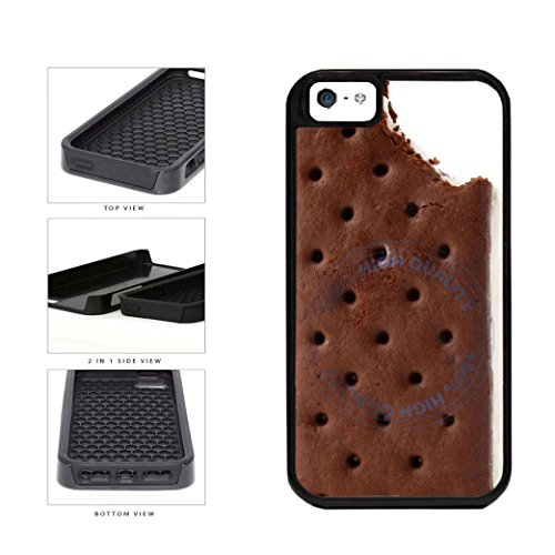 BleuReign(TM) Funny Half Eaten Ice Cream Sandwhich 2-Piece Dual Layer Phone Case Back Cover For Apple iPhone 5 5s (Dripping Ice Cream Iphone 5s Case compare prices)