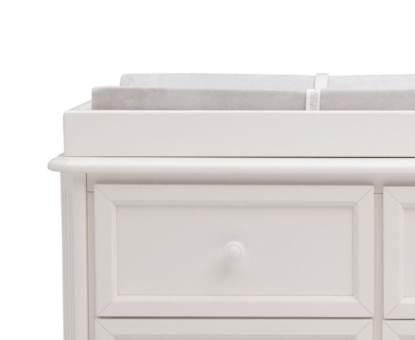 Simmons Kids Peyton 6-Piece Nursery Furniture Set (Convertible Crib, Dresser, Chest, Changing Top, Toddler Guardrail, Full Size Conversion), Bianca White by Delta Children (Image #9)
