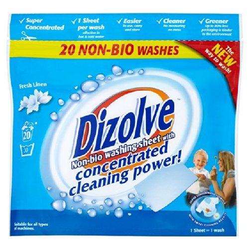Dizolve Fresh Linen no Bio Fichas de detergentes 20 por paquete: Amazon.es: Alimentación y bebidas
