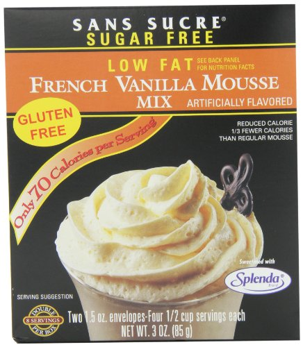(Sans Sucre French Vanilla Mousse Mix, 3-Ounce (Pack of 6))