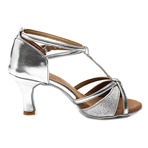 Samba Ballsal Latin S7 Kvinners Sølv Chacha Hroyl Standard Dansesko Moderne 255 Sateng 5cm wIOpn8Eqx