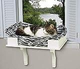 Savvy Tabby Wooden Cat Window Seat White