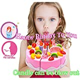"""BigNoseDeer Birthday Singing Cake Toy - Play Party Cake with music Sings """"Happy Birthday to You"""" Candle can be blow out"""