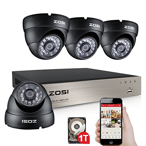 ZOSI 4Channel outdoor 1280TVL Security