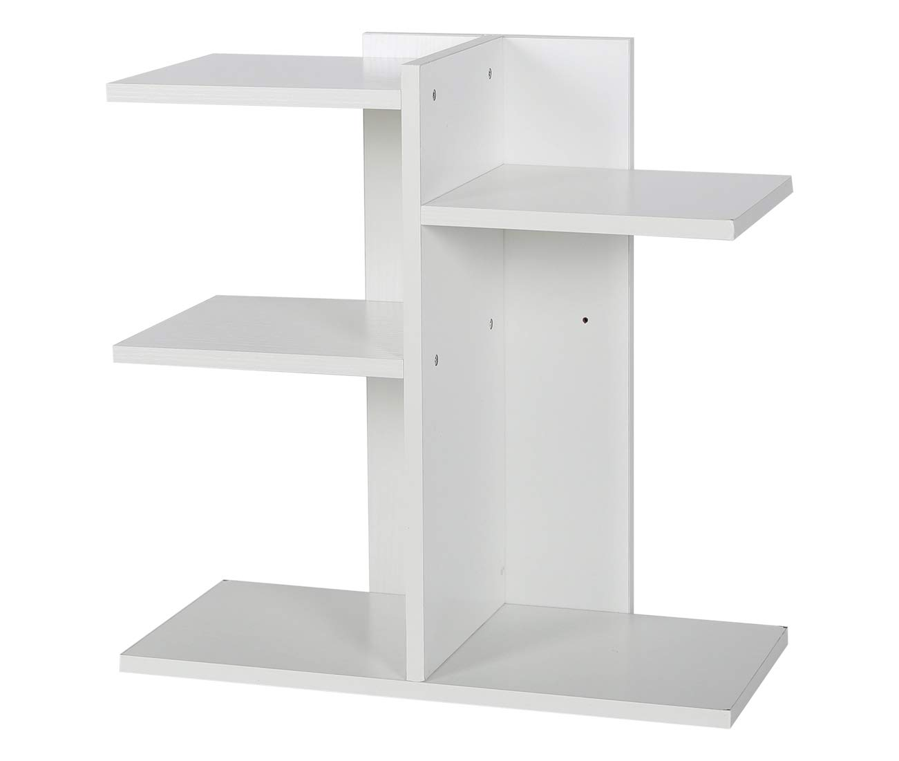 PAG Wood Desktop Bookshelf Assembled Countertop Bookcase Literature Holder Accessories Display Rack Office Supplies Desk Organizer, White by PAG (Image #5)