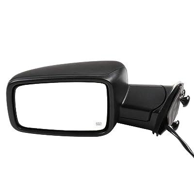 cciyu Black Power Left Side View Mirror Manual Folding Heated Turn Signal Fits for 2009-2010 Dodge Ram 1500 2011-2013 Dodge Ram 1500 2011-2015 Dodge Ram 2500 3500: Automotive