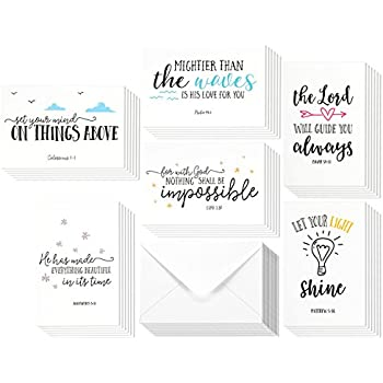 Amazon encouragement greeting cards 36 pack all occasion 48 pack inspirational bible verse quote greeting cards religious inspiring motivational cards bulk box set includes 48 cards with envelopes 4 x 6 m4hsunfo Gallery