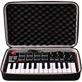 LTGEM Travel Hard Carrying Case for Akai Professional MPK Mini MKII | 25-Key Ultra-Portable USB MIDI Drum Pad & Keyboard Controller