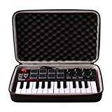 LTGEM Travel Hard Carrying Case for Akai Professional MPK Mini MKII | 25-Key Ultra-Portable USB MIDI Drum Pad & Keyboard Controller
