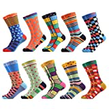 WeciBor Men's Dress Cool Colorful Fancy Novelty Funny Casual Combed Cotton Crew Socks Pack (063-72)