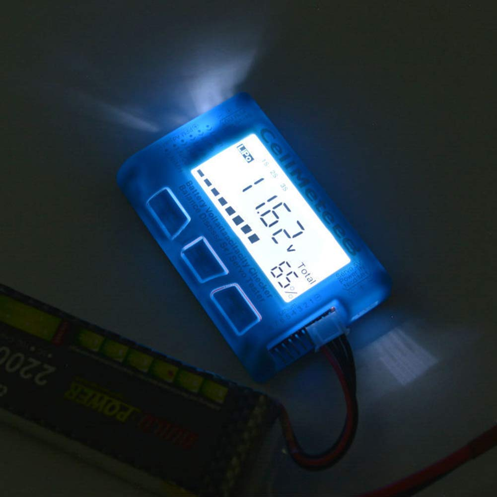 Hmmedsmoothly Battery Capacity Tester RC CellMeter 8 Digital Battery Capacity Checker Balance Discharger Servo Tester