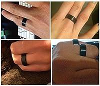 King Will Men Women Wedding Black Tungsten Ring 8mm Brushed Matte Finish Beveled Polished Edge ComfortFit
