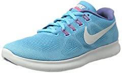 The Women's Nike Free RN 2017 Running Shoe brings you miles of comfort in an updated version with reduced layers and weight. A breathable circular-knit upper and a tri-star outsole pattern adjust to your foot's every step, delivering support ...