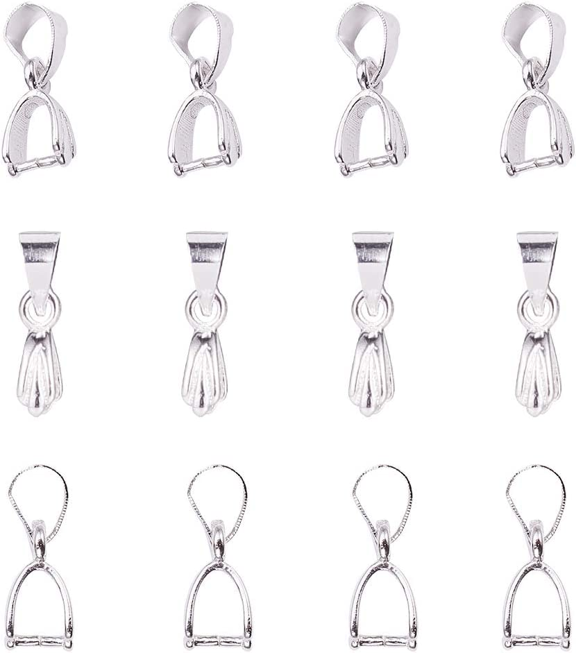 100 Pcs  Jewelry Making Connectors Charms Pendants Spacer Bead Metal Clasps