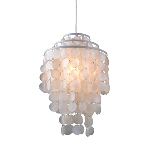 Capiz Lighting Fixtures Lamp Newrays Circle Capiz Shell Chandelier Round Capiz Pendant Lamp Ceiling Fixture white Amazoncom Newrays Circle Capiz Shell Chandelier Round Capiz Pendant Lamp