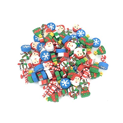 KATERT Christmas Erasers, Holiday Eraser, 120+ Pcs, Amazing Kids Students Gift, Party Prizes Favors, 4 Box