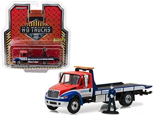 2013 International Durastar BFGoodrich Flatbed with Repair Man Figure HD Trucks Series 12 1/64 Diecast Model by GreenLight 33120B