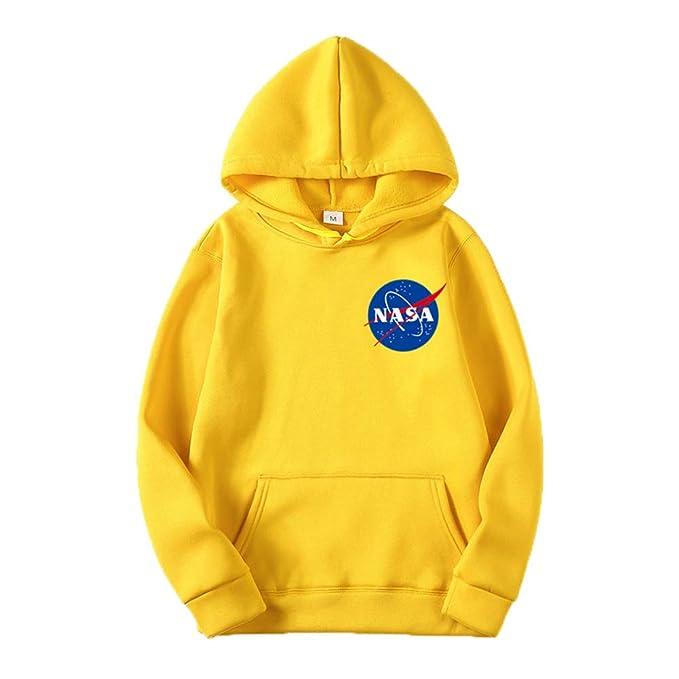ZBSPORT NASA Sudaderas con Capucha para Hombre Mujer Cosy Sport Outwear Sweatshirt (10 Color): Amazon.es: Ropa y accesorios