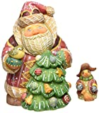 G. Debrekht Santa with Tree and Snowman Box, 6''