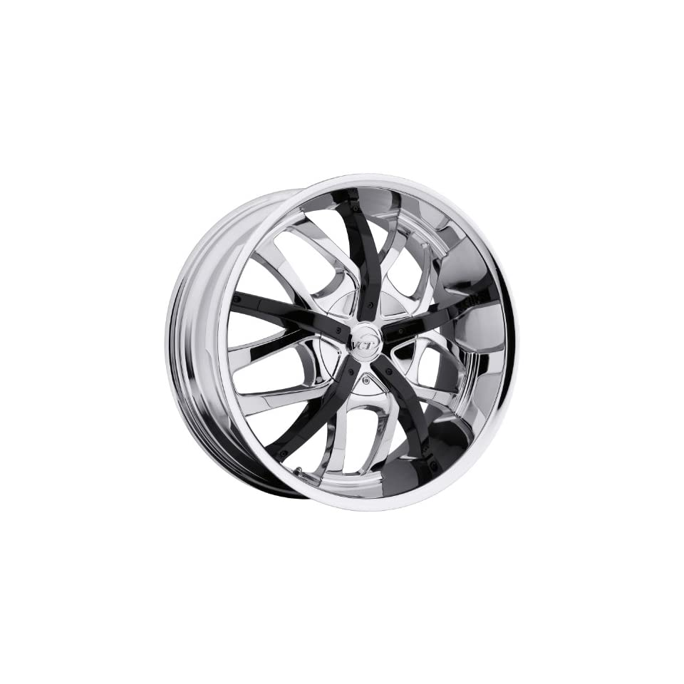 VCT Romano 22 Chrome Wheel / Rim 5x5 & 5x5.5 with a 15mm Offset and a 78.3 Hub Bore. Partnumber V67 22951051271397+15