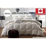 100% COTTON WHITE DOWN DUVET MADE IN CANADA White