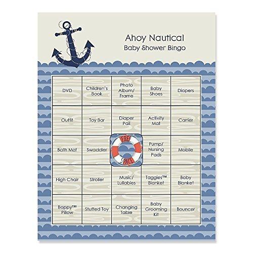 Workbook baby shower games printable worksheets free : Amazon.com: Ahoy Nautical - Baby Shower Game Bingo Cards - 16 ...
