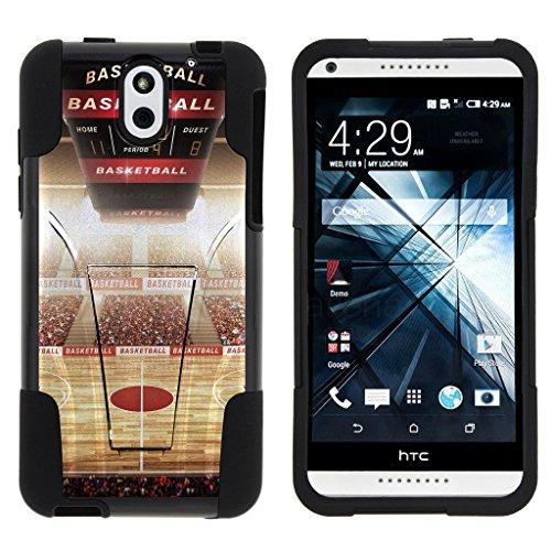 HTC Desire 610 , Hybrid Dual Layer Case with Kickstand STRIKE IMPACT Basketball Series Artwork Collection | Desire 610 by Miniturtle® - Baller Stadium (Artwork Stadium Collection)