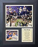 "Legends Never Die Tom Brady Super Bowl Champion NFL New England Patriots 2016 5X Framed Photo Collage, 11"" x 14"""