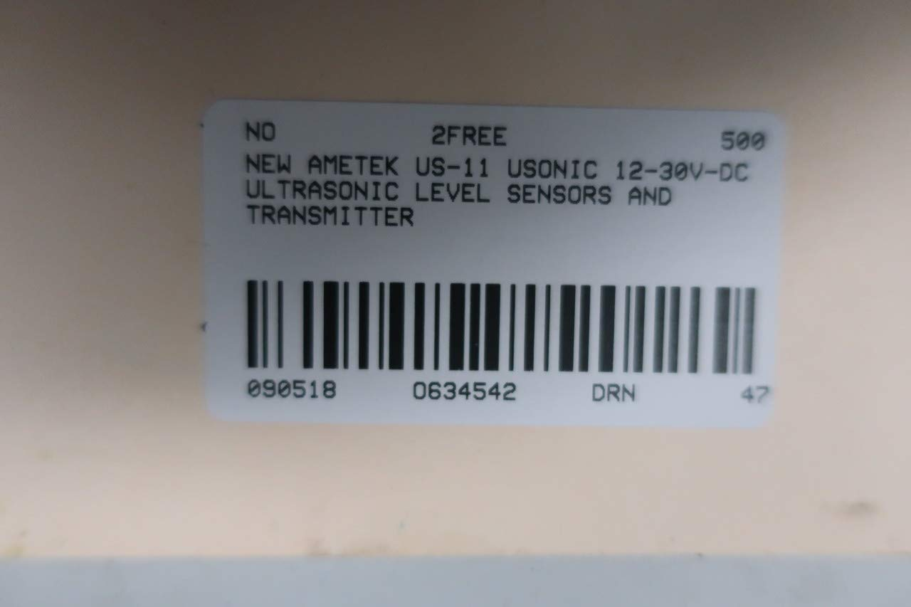 AMETEK US-11 USONIC 12-30V-DC ULTRASONIC Level Transmitter D634542: Amazon.com: Industrial & Scientific